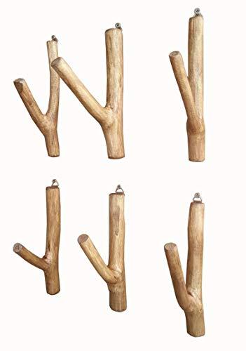 Faunos Treibholz Wandhaken Garderobe 6 Stück Unikat Handarbeit Wandgarderobe Holz