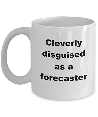 Taza del pronosticador, inteligentemente disfrazada, apreciacin, ocupaciones laborales, profesin, trabajo, tazas de caf, divertida taza de t de cermica blanca de 11 oz