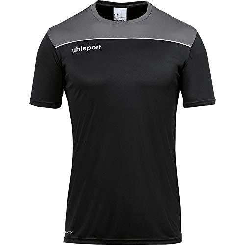 uhlsport herr OFFENSE 23 POLY SHIRT Fussball träningskläder, svart/antra/limonengel, XXL