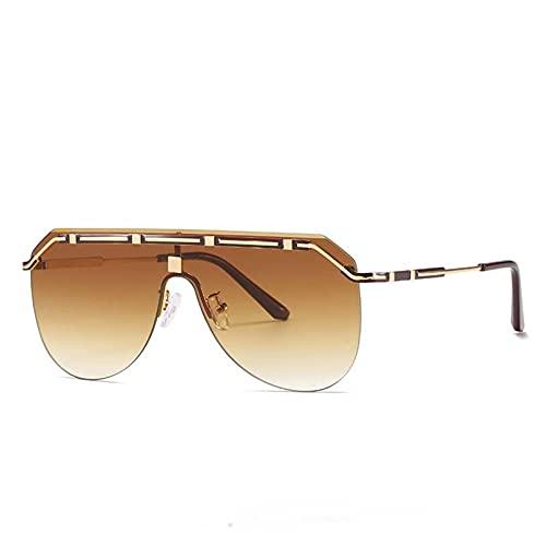 AMFG Modernas gafas de sol retro gafas de sol para mujer gafas de sol sin llena de solparentes de viaje al aire libre espejo (Color : F)