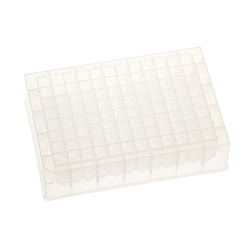 Celltreat 229573 96 Deep Well Storage Plate, 1.5mL, PP, Square Well, Round Bottom, Non-sterile (Pack of 25)