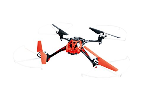 XciteRC 15014120 - Ferngesteuerter RC Quadrocopter Rocket 250 3D - 4 Kanal RTF Drohne mit Kamera, rot
