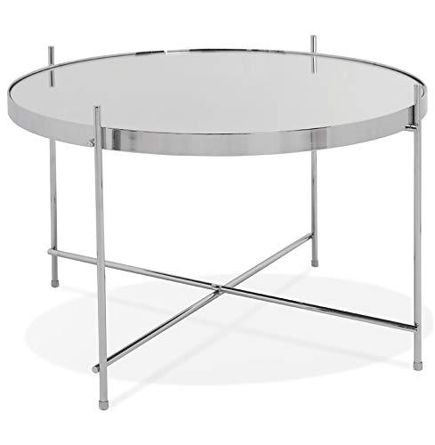 Alterego Table Basse 'Kolos Medium' Couleur Chrome