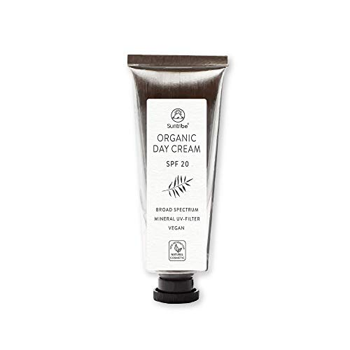 Suntribe Tagescreme - LSF 20 - Mandel & Jojoba - Ohne Zusätze - Vegan & Bio - 100% mineralischer UV-Filter (Zinkoxid) - Empfindliche Haut - Normale Haut - Mischhaut (40ml)