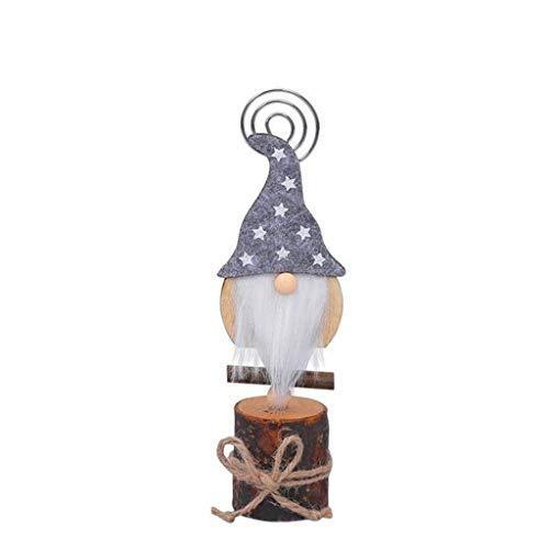 AM-Clearance Tarjeta de visita con forma de muñeca sin rostro de Navidad, decoración de habitación de tomte escandinavo para decoración del hogar, accesorios de mesa novedad