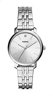 FOSSIL Lexie Luther Stainless Steel Band Analog Watch for Women - Silver
