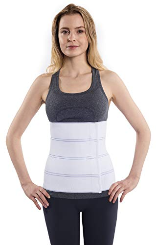 NYOrtho Abdominal Binder Lower Waist Support Belt - Compression Wrap for Men and Women (45' - 60') 4 PANEL - 12'