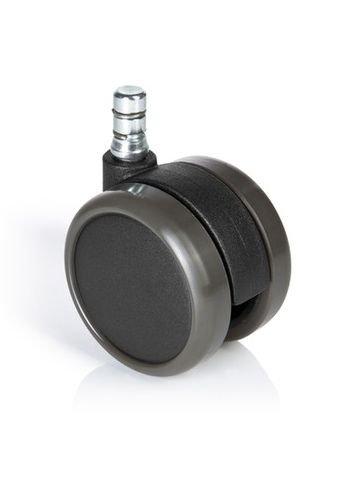 5x Hartbodenrollen 11mm / 65mm Büro-Stuhl-Rollen No-Noise (5er Pack) hjh OFFICE