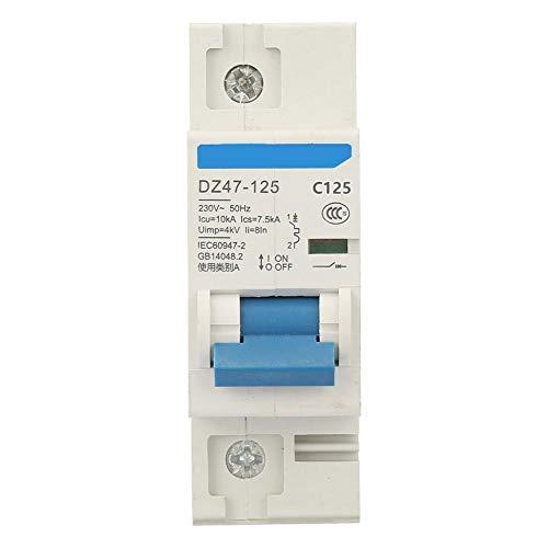 YWBL-WH 230V 80/100/125A Air Circuit Breaker DZ47-125 1P Current 30mA Miniature Circuit Breaker 0.1S 6KA(C125A)