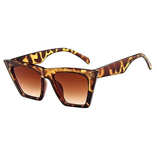 Mantimes Gafas de sol polarizadas para adultos, cuadradas, antideslumbrantes, gafas de moda, ojo de gato, reflectantes, retro, protección UV400 para conducción nocturna, viajes, pesca (marrón)