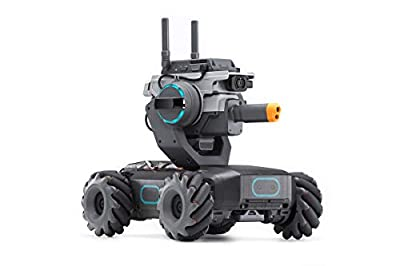 "DJI RoboMaster S1 - Educational Robot STEM Programmable for Kids Science Learning Toy Car Remote Control Intelligent AI Scratch Python Coding 5MP 1/4"" CMOS Camera"