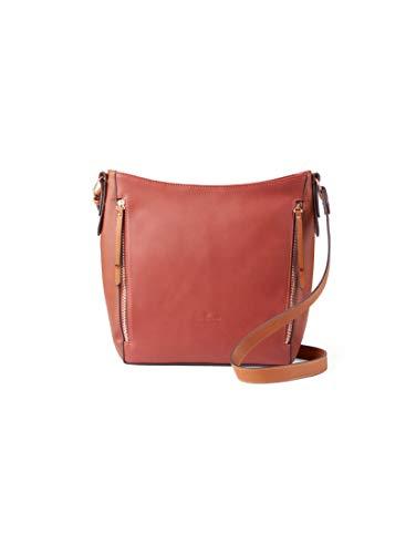 TOM TAILOR Damen Alexis Umhängetasche, Braun (Cognac), 34x33x11 cm, TOM TAILOR Taschen für Damen, Handtasche, Schultertasche, Hobo