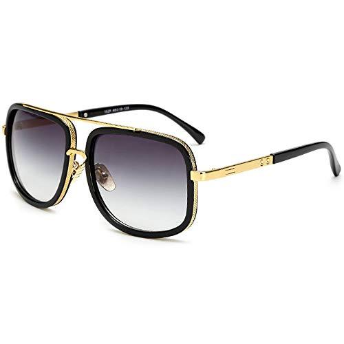 SHEEN KELLY Retro quadratische Sonnenbrille-Marken-Metallgoldsonnenbrille-Pilot Driver Mirror Gradient Lens