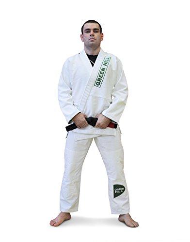GREEN HILL Kimono da Brazilian Jiu Jitsu Brasiliano BJJ GI PRO OMOLOGATO (Bianco, K3)
