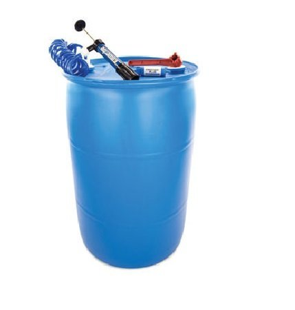 Shelf Reliance Deluxe BPA Free 55-gallon Barrel Water Storage System Includes Water Filter Pump By Aquamira, Food Grade Water Barrel