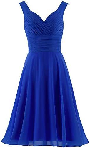 Royal blue short bridesmaid dress _image3