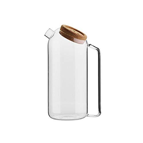 YZZR Jarra de Vidrio,Jarra,Jarras de Cristal,Jarras para Agua,Jarra de Agua Cristal Agua Jarra Botella de Cristal con Tapa Acero Inoxidable Jarras de Vidrio Color Transparente