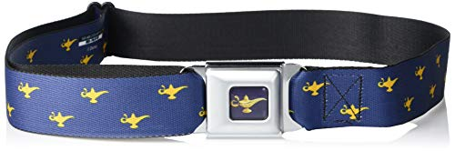 Buckle-Down unisex child Buckle-down Seatbelt Aladdin Genie Kids Belt, Aladdin Genie, 1.0 Wide - Fits Pant Size 20-36 US