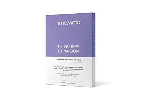 TImeMoto TM-25 - Erweiterungspaket für 25 Benutzer passend zur TImeMoto Cloud oder TImeMoto Cloud Plus, TM Cloud User Expansion 25