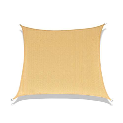 YS&VV De Color Crema Exterior Resistente a Los Rayos Ultravioleta Vela Parasol, HDPE Cuadrangular Toldo de Protección Solar,Los 4 * 4M