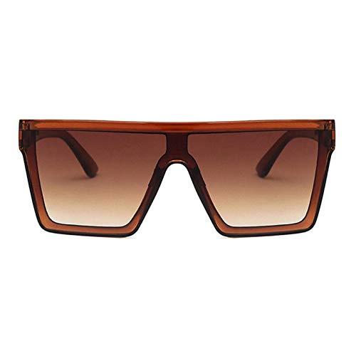 Gafas De Moda Gafas De Sol Gafas De Sol Cuadradas Clásicas Vintage para Mujer, Gafas De Sol De Gran Tamaño Siameses, Gafas De Sol Retro para Muj