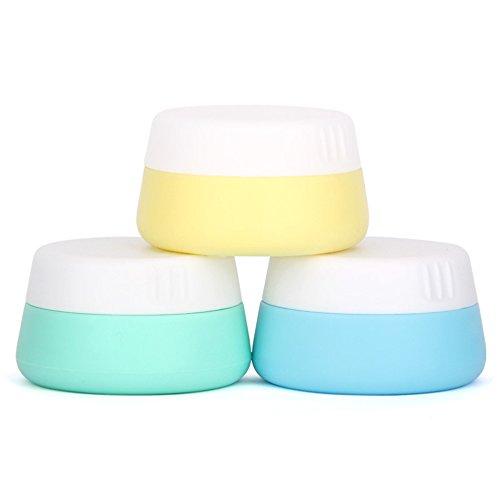 Gracelaza 3 Pcs Set Silicone Cosmétiques Conteneur Bouteilles avec Couvercle Scellé - Exquis Maquillage Flacons - Idéal Accessoires pour Voyage et Usage Domestique (Capacité: 30ml)