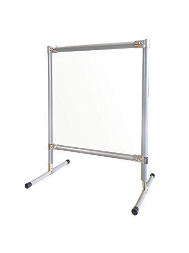 Spuckschutz Thekenaufsatz 700mm x 700mm- Abtrennung für Tresen, Empfang, Arbeitsplatz, Tisch mit 3mm starker Makrolonplatte. rutschfeste Gummifüße für optimalen Stand
