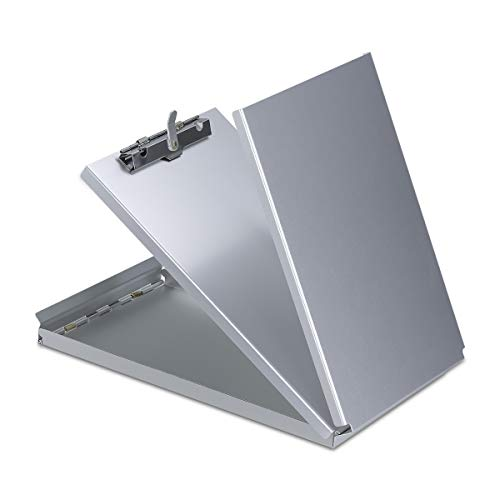 Aluminum Clipboard Metal with Storage Form Holder Metal Binder 9.8560.8 inch with High Capacity Clip Posse Box Heavy Duty,Clipboard for Office Business Professionals Stationery Items