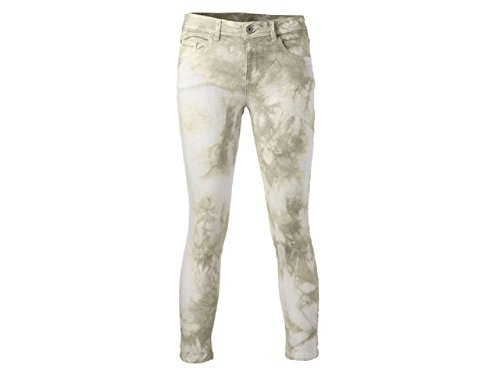 yaya Jeans Feder-Print (44, Creme/Green)