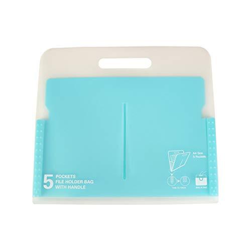JenLn Bolso del Soporte del documento Carpeta de acordeón portátil Plastic Business File Manager Caja/Soporte Multicolor de Gran Capacidad/Carteras de expansión portátiles