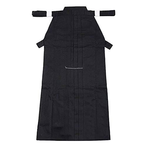 G-like Kampfsport Kendo Kenjutsu Uniform - Traditionelle Japanische Schwertkampfkunst Kostüm Karate Ninja Aikido Training Kleidung Keikogi Jacke Hakama Hose für Männer Frauen (Black, XXL)