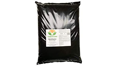 10 Liter TerraVerm Wurmhumus -Pflanzenerde für Balkon und Garten -Dünger für Hochbeet, Kräuter, Gemüse, Blumentopf - chemiefrei - biologisch, organisch, natürlich