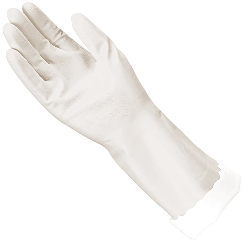 Mr. Clean, 243034 Bliss, Large Latex Free, Vinyl, Soft Ultra Absorbent Lining, Non- Slip Swirl Grip Gloves, (Large)