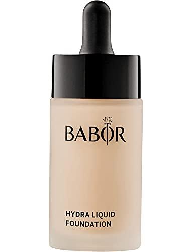 BABOR MAKE UP Hydra Liquid Foundation, flüssige Foundation mit mittlerer Deckkraft, für trockene Haut, enthält feuchtigkeitsspendendes Serum, 30 ml