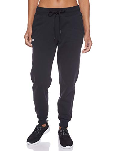 Under Armour Damen Hose Rival Fleece Solid Pants, Schwarz, M, 1348570-001