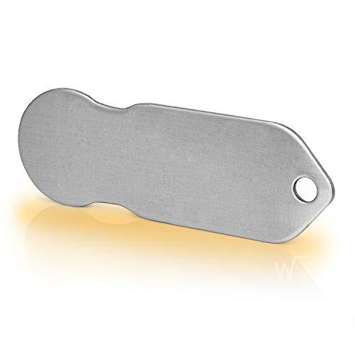 Code24 Einkaufswagenlöser, blanko Schlüsselanhänger mit Einkaufschip, Profiltiefenmesser & Schlüsselfinder, schönes Firmengeschenk, inkl. Registriercode für Schlüsselfundservice, Einkaufswagenchip