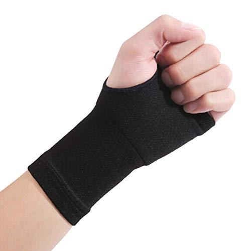 MINASAN 1 Pcs Handgelenk-Handunterstützungs-Handschuh, Daumenbandage, Daumenstütze, Handbandage, Schmerzlinderung (Schwarz, L)
