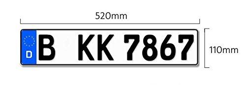 1 Euro-Kennzeichen   Kfz Kennzeichen 520x100 mm DIN-zertfiziert