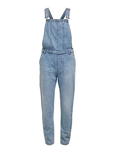 ONLY Damen ONLPERCY Life Overall DNM AC Jeans, Light Blue Denim, XL / 32L