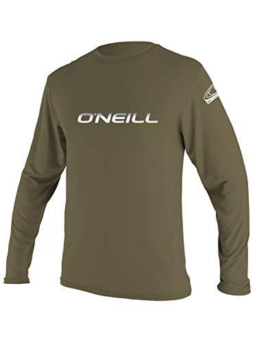 O'Neill Men's Basic Skins Longsleeve Rash Tee XL Khaki (4339IB)