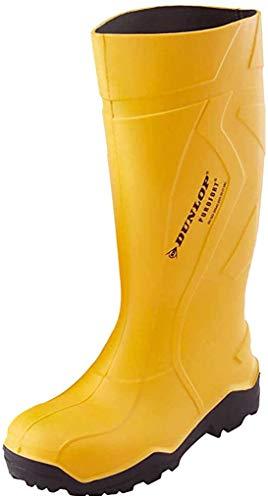 Botas de agua Dunlop amarillas para hombre