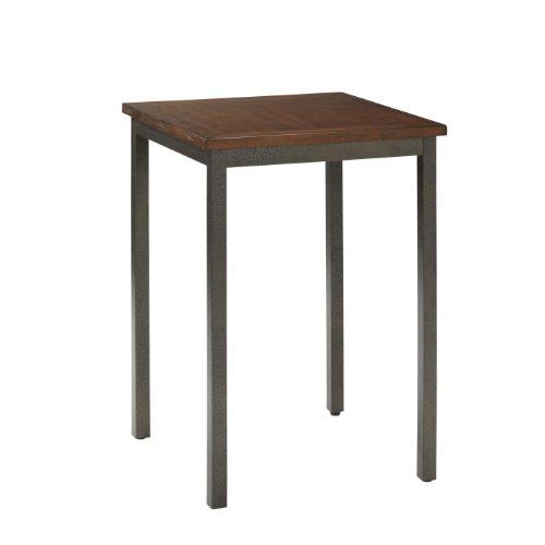Home Styles Modern Craftsman Oak Pub/Bistro Table with Distressed Finish, Engineered Wood, Oak Veneers, and Metal Legs