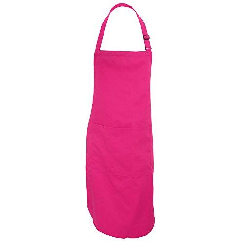Dennys Unisex Latzschürze mit Tasche, für Erwachsene (Einheitsgröße) (Dunkles Pink)