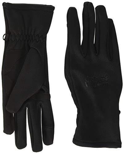 Jack Wolfskin CROSSING PEAK GLOVE touchscreenfreundliche Handschuhe, Black, M