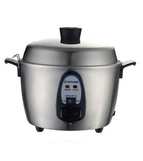Tatung TAC-06KN 6 Cups Indirect Heating Stainless Steel Rice Cooker by Tatung