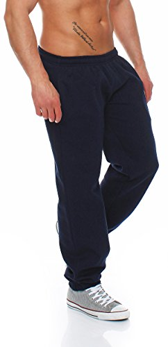 Gennadi Hoppe Herren Sporthose Trainingshose Jogginghose Pants Sweatpants,blau,X-Large