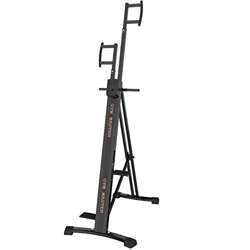 GYM MASTER Heavy Duty Vertical Climber Machine With Strong Metal Pedals and Parts With Monitor