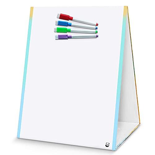 Pizarra Blanca para Niños con Caballete – Pizarra Lavable, Magnética y se Borra en Seco – Pizarra Infantil, con Rotuladores y Borrador – 32 x 38 cm