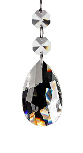 Fushing - 20 abalorios con forma de gotas de cristal para ca
