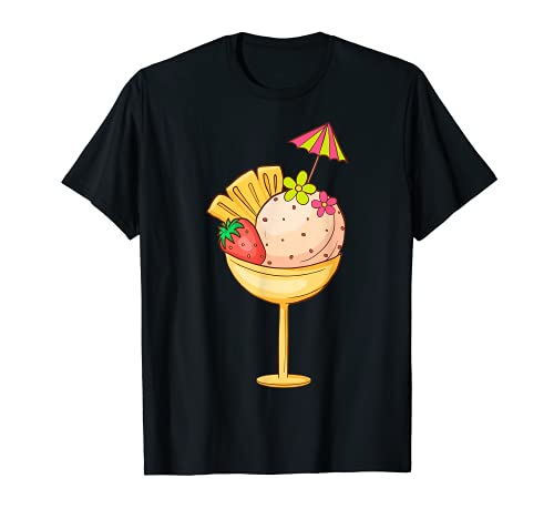 Eis Eisbecher Softeis Eiskrem Eiscreme Speiseeis Eisspeisen T-Shirt